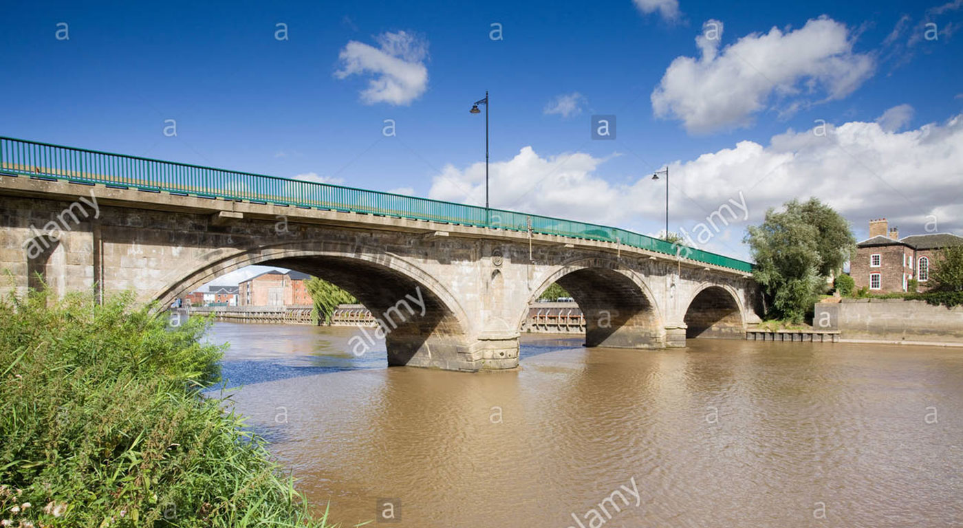 Gainsborough Bridge Or Trent Bridge Over The River Trent