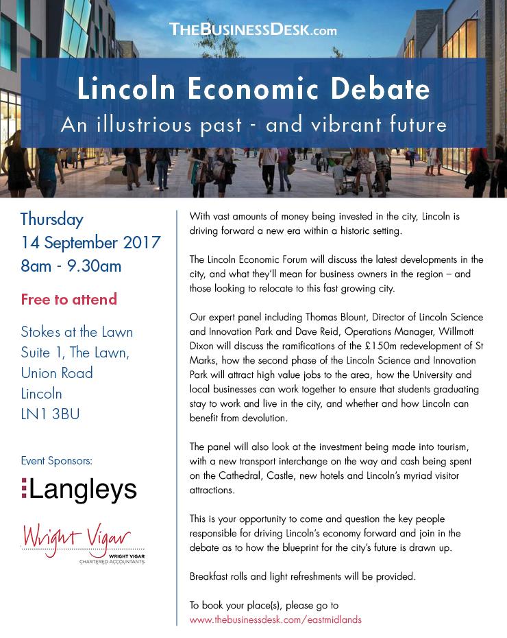 Lincoln Economic Debate - 14 September 2017 - Wright Vigar
